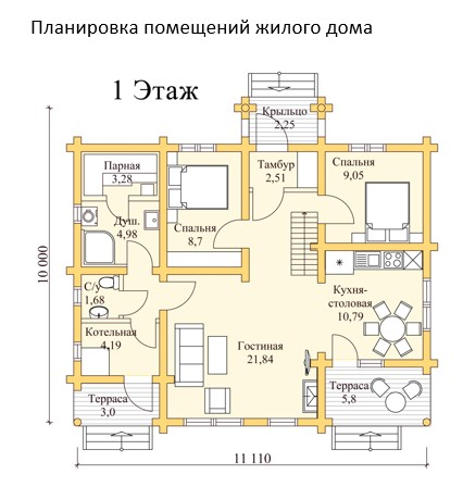 Планировка помещений жилого дома
