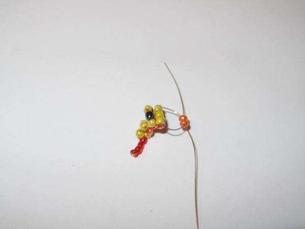 Змейка из бисера 9