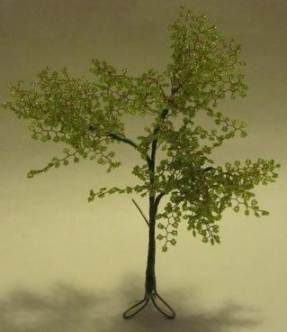 Как изготовить дерево из бисера