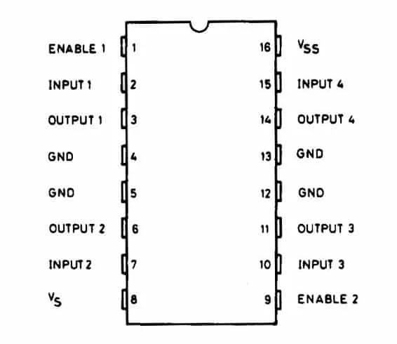 Микросхема L293D описание