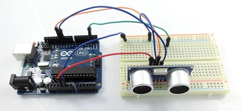 Подключение датчика HC-SR04