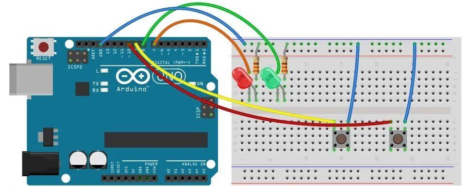 Схема сборки для работы с логическими операторами