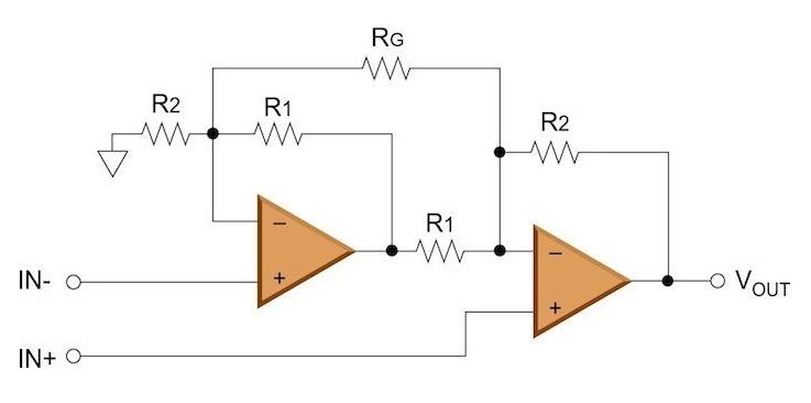 Схема инструментального усилителя