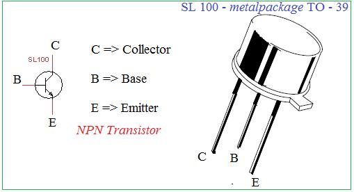 Схема контактов транзистора